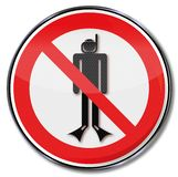 Prohibition sign with diving ban vector illustration