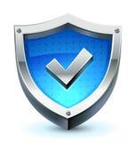 Schild als beschermingspictogram Stock Fotografie