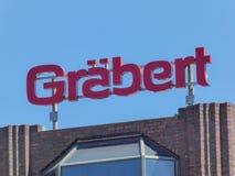 Schild der deutschen Firma Graebert lizenzfreie stockfotos