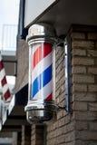 Schild des Friseurs Stockbild