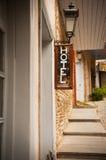 Schild des Hotels Stockfotografie