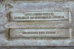 Schild des Skulptur-Preises der Freiheit in Arlington-Kirchhof von Virginia USA stockbilder