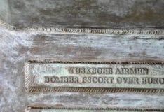 Schild des Skulptur-Preises der Freiheit in Arlington-Kirchhof von Virginia USA lizenzfreies stockfoto