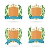 Schild-Emblem Stockfotografie