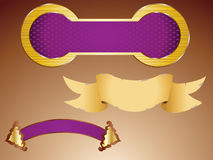 Schild en banner Royalty-vrije Stock Foto
