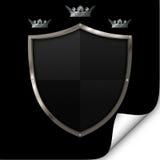 Schild en kronen. Royalty-vrije Stock Foto's
