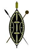 Schild en spear Stock Afbeeldingen