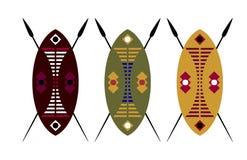 Schild en spear Royalty-vrije Stock Afbeelding