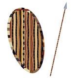 Schild en spear Royalty-vrije Stock Foto