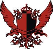 Schild en vleugels royalty-vrije illustratie