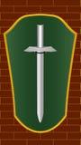 Schild en zwaard Royalty-vrije Stock Foto