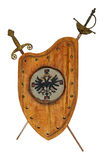 Schild en zwaarden Royalty-vrije Stock Afbeeldingen