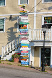Schild für Touristen (Kennebunk USA)) Stockfotografie
