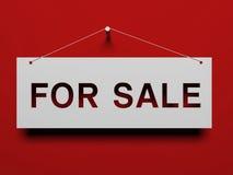 Schild für Verkauf Stockbilder