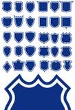 Schild-Form-Schablone Lizenzfreies Stockbild