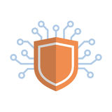 Schild-Ikonen-Medien-Netz-Daten-Schutz-Konzept stock abbildung