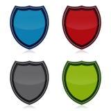 Schild-Ikonen-Set Stockfotos