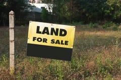 Schild-Land für Verkauf Lizenzfreie Stockbilder