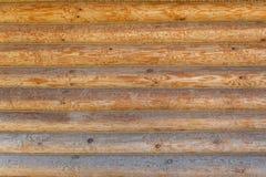 Schild met een groot aantal parallelle houten logboeken royalty-vrije stock afbeeldingen