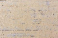 Schild met een groot aantal parallelle houten logboeken met zandtextuur Houten Zonneblinden Royalty-vrije Stock Foto's