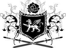 Schild met griffioen Royalty-vrije Stock Afbeelding