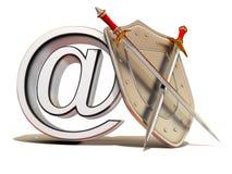 Schild met symbool voor Internet Royalty-vrije Stock Fotografie