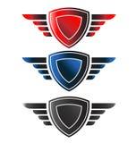 Schild met vleugels royalty-vrije illustratie