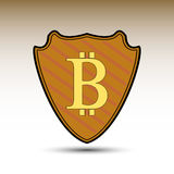 Schild mit bitcoin Symbol vektor abbildung