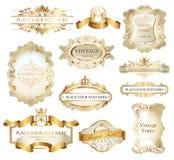 Schild mit Farbband und Krone Lizenzfreie Stockbilder