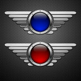 Schild mit Flügeln. Lizenzfreies Stockfoto