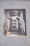 Schild mit zwei Adlern Lizenzfreie Stockfotos