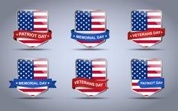 Schild und Flagge USA Lizenzfreie Stockfotos