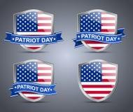 Schild und Flagge USA Lizenzfreies Stockfoto