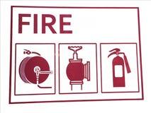 Schild van brandveiligheid stock afbeelding
