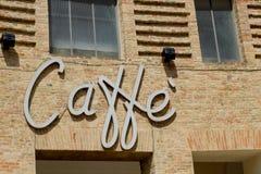 Schild von Caffè Stockfotos