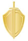 Schild voor het zwaard vector illustratie