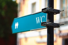 Schild WC-Zeichen Stockbild