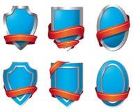 Schilden - blauw Royalty-vrije Stock Foto