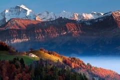 Schilder Alpen Stock Foto's