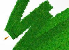 Schilder de grond met gras Royalty-vrije Stock Foto
