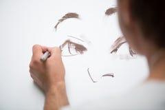 Schilder en zijn art. Stock Afbeeldingen