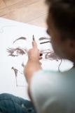 Schilder en zijn art. Royalty-vrije Stock Afbeelding