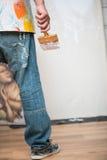 Schilder en zijn art. Stock Afbeelding