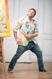Schilder en zijn art. Royalty-vrije Stock Fotografie