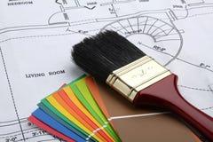 Schilder het huis Royalty-vrije Stock Afbeeldingen