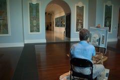 Schilder het schilderen royalty-vrije stock afbeeldingen