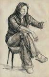 Schilder, jonge vrouw Royalty-vrije Stock Fotografie