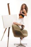 Schilder omvat in verf Royalty-vrije Stock Foto