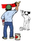 Schilder op het werk Royalty-vrije Stock Afbeelding
