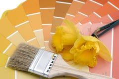 Schilder uw kleuren van de huislente Stock Afbeeldingen